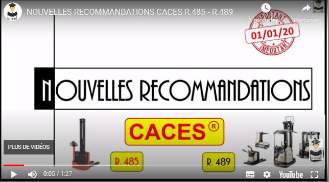 Nouvelles recommandations CACES® R485-R489